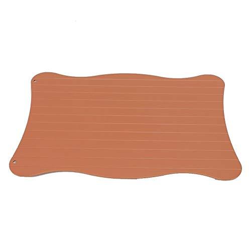 Vikenar Aluminium-schnelles Abtauschale for Tiefkühlkost-Auftauenplatte Abtaufleisch (29,5 * 20,5 * 0,3 cm)