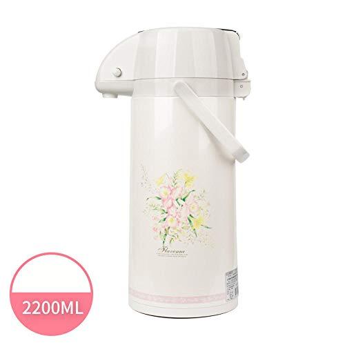 Jingyinyi pneumatische thermoskan, persen isolatie pot, huishoudelijke thermosfles thermoskan, duurzaam, Geel