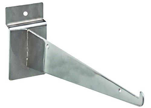 KC Store Fixtures A01701 Slatwall Shelf Bracket, 8', Chrome (Pack of 25)