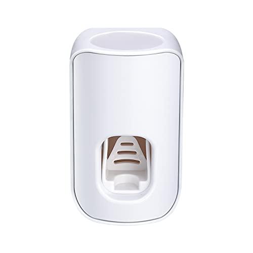 QiCheng&LYS Distributeur Automatique de Dentifrice, étanche et Anti-poussière, Installation Facile, Convient à la Salle de Bain 5 Couleurs au Choix (Blanc)