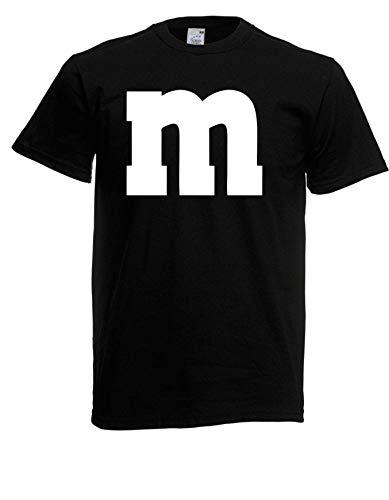 Camiseta  M & M Carnaval grupos Disfraz Carnaval disfraz Dardos Unisex Negro XXXXL