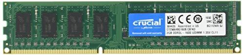 CFD デスクトップPC用メモリ PC3L-12800 DDR3L-1600 2GB×2枚 1.35V1.5V両対応 無期限保証 Crucial by Micron W3U1600CM-2G
