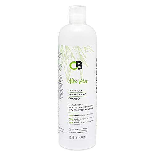 Organic Bubbles - Organic Aloe Vera Shampoo promotes healthy hair growth and prevents itching on the scalp, reduces dandruff & conditions your hair & scalp - Promotes Shiny Hair & Healthy Scalp- 490ML
