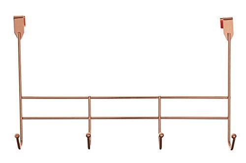 Premier Housewares–Perchero para Puerta (4), Oro Rosa, 10 x 40 x 25 cm