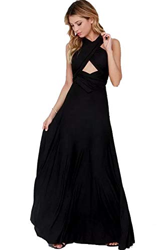 MSDRESS Damen Kleid Damen Bandage Langes Party Swing Kleid Mehrlagig Robe Brautjungfern Damen Kleid,...