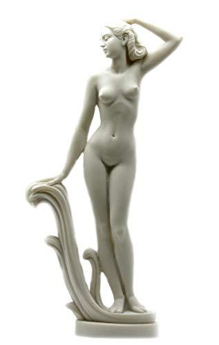 5 Inch Figure Female Nude on Floor Straddling Her Arm Display Decor