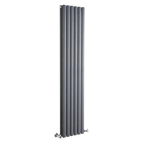 Hudson Reed Vitality – Radiateur Design Vertical – Anthracite – 178 x 35,4cm Double Rang