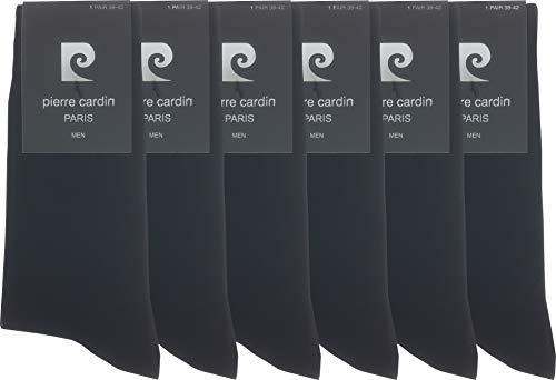 von Pierre Cardin Herren Business Socken Bambus Viskose Strümpfe bequem ohne drückende Naht in schwarz (6, 39-42)