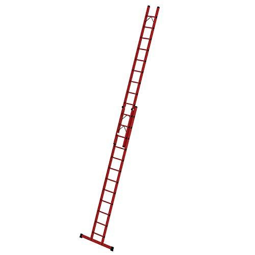 Vollkunststoff-Schiebe-Seilzugleiter mit Standtraverse, 2-teilig 2 x 12 Sprossen Arbeitshöhe bis ca. 7,40 m