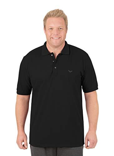 Trigema Herren Poloshirt 621601_008 Piqué-Qualität, Gr. 3X-Large, schwarz