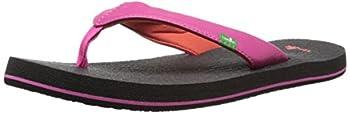 Sanuk Kids Girl s Yoga Mat Flip Flop  Hot Pink/Red 7/8 M US Toddler