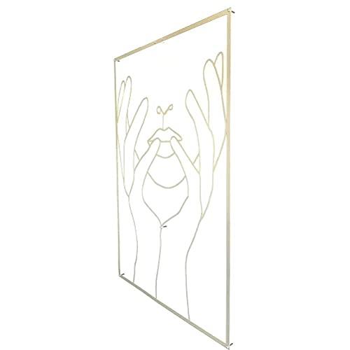 3D Minimalistische Moderne Abstrakte Weibliche Körperkunst Wandaufkleber DIY Abnehmbare Goldene Acryl Foto Wandtattoos Wandbilder Dekoration Kunst - C