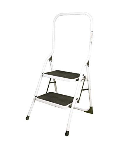 ORYX 23010100 Escalerilla Acero 2 Peldaños Uso Doméstico Plus