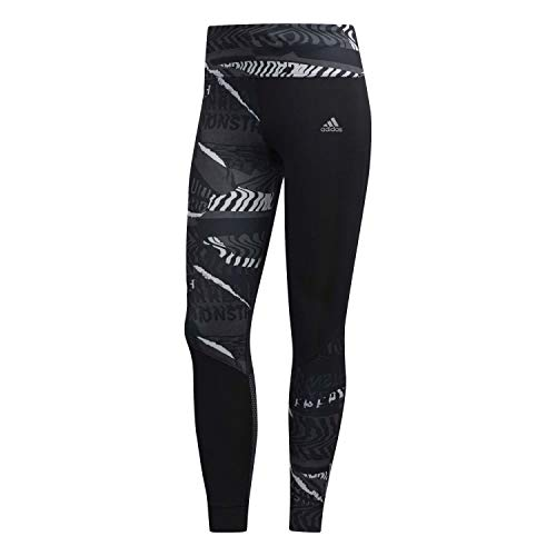 adidas Damen OWN The Run TGT Tights, Grey Three f17/Grey six/Black, M