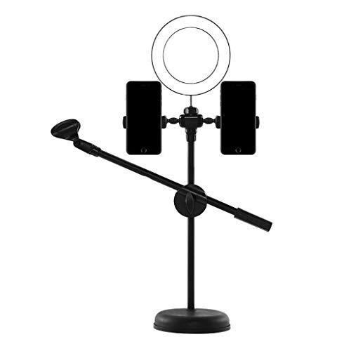 CZYNB Soporte de teléfono móvil de Anillo de trípode NAI-trípode, Soporte de Video en Vivo del Selfie de Escritorio, teléfono móvil de la luz de la Belleza Universal (Size : A)