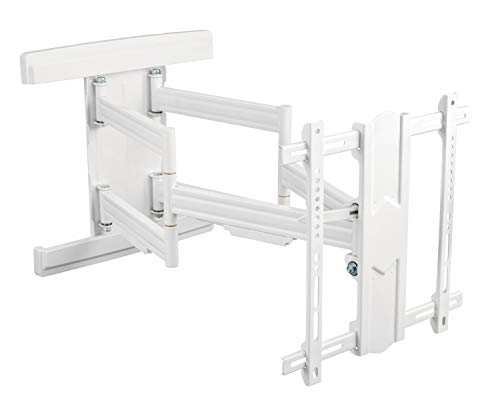 RICOO S7544-W, TV Wandhalterung, Schwenkbar, Neigbar, Universal 55-100 Zoll (140-254cm), TV-Halterung, Curved LCD LED Fernseher, VESA 400x400, Weiß
