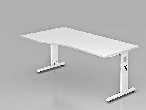 Schreibtisch C-Fuß 180x100/80cm, Weiß