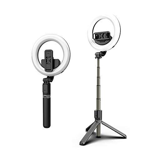 KKmoon Portátil BT Wireless Live Light Selfie Stick Lâmpadas fotográficas LED com controle remoto destacável para selfie/TV/Live