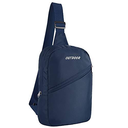 Outdoor Sling Bag Crossbody Rucksack, kleine Brusttasche für Reisen, Fitnessstudio, Sport, Wandern, leicht