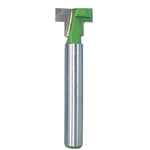 T 型槽路由器钻头 6 毫米柄,刨木工工具 12.7 毫米切割宽度