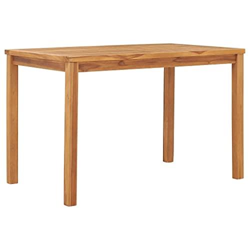 vidaXL Legno Massello di Teak Tavolo da Pranzo per Giardino Tavola da Esterni Tavolino per Patio Arredamento da Giardino 120x70x77 cm