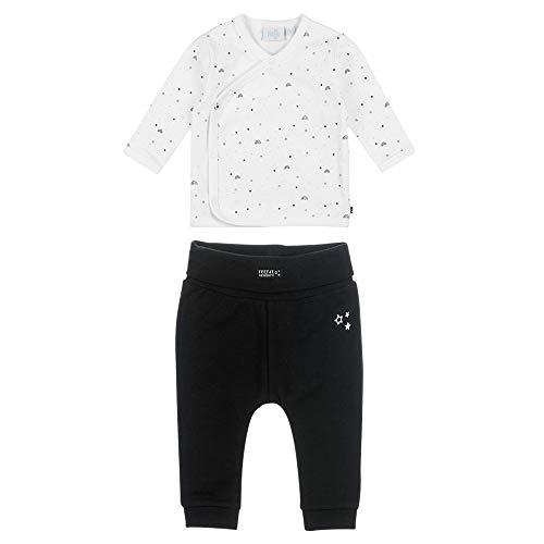 Feetje Baby-Jungen Zweiteiliger Sweat-Anzug Over The Rainbow, schwarz-weiß, 50