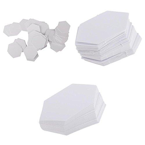 MonkeyJack 300 Pieces Hexagon Paper Quilting Templates Paper Piecing DIY Patchwork 3 Sizes