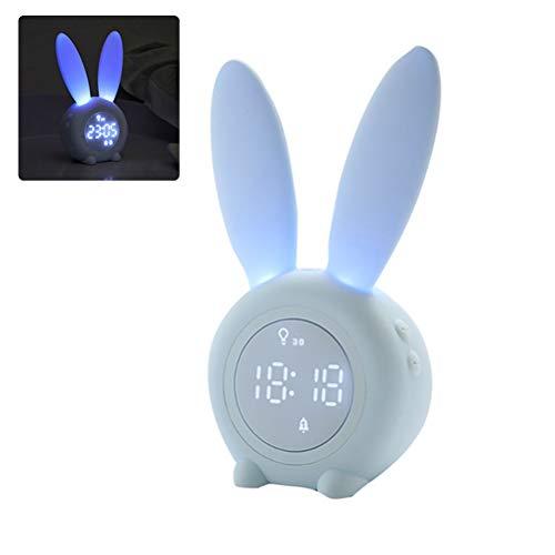 Rabbit Bunny Wake Up Light Wecker Digital Night Light Clock Tischdekoration Wohnzimmer Uhr