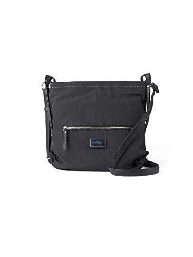 TOM TAILOR Umhängetasche Damen Elin Nylon, (Schwarz), 27x27x6 cm, TOM TAILOR Handtaschen, Taschen für Damen, klein