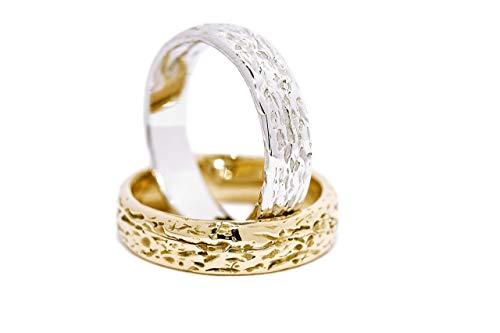 Fedi Nuziali di design - lavorazione artigianale unica oro 18 kt.