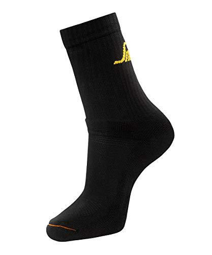Snickers Workwear AllroundWork Socken, 9211, 3-Pack, schwarze Arbeitssocken, 41-44