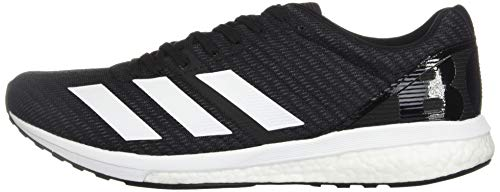 adidas Men's Adizero Boston 8 Running Shoe, Black/White/Grey, 12 M US 10
