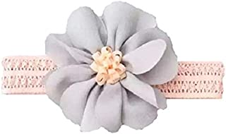 Pink Lace & Gray Flower Hair Accessories for baby girl head band hair band headwear