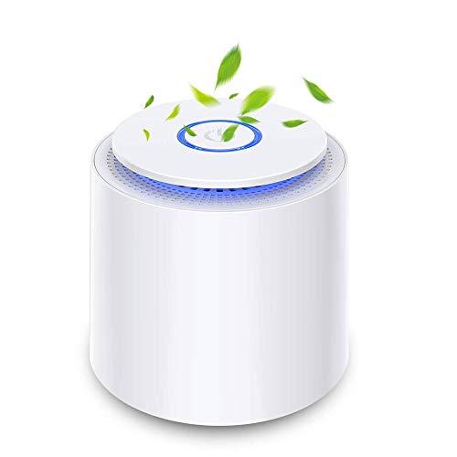 SZHWLKJ Portable Air Purifier, con Filtro assoluto HEPA, USB Powered Cleaner Desktop Aria con la Luce di Notte e Funzione Aromaterapia