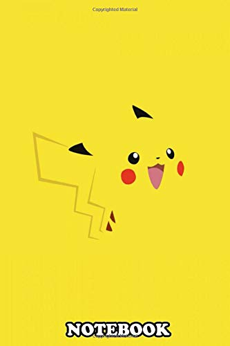 Notebook: Minimalist Art Of The Pokemon Pikachu Lovely Designed , Journal for Writing, College Ruled Size 6