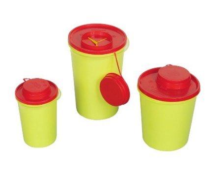 carmesin Kanülenabwurfbehälter - 0,6 Liter - durchstichsicher 10 Stück