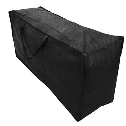 Timagebreze Bolsa de Almacenamiento para Muebles de Patio Bolsa de Almacenamiento Funda Antipolvo Impermeable Ligero para Uso CojíN de JardíN (122X39X55Cm)