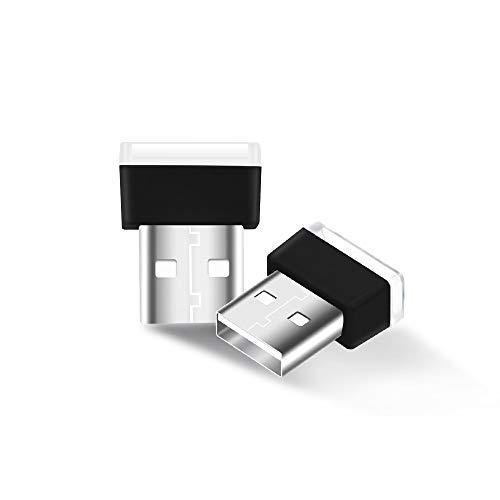 Bonlux USB Farbige LED Mini Lampe Licht Blau Wireless Innenraum Umgebungsleuchtung für Notibuch (2Stück)