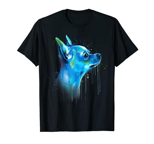 Lindo Chihuahua acuarela pintura arte Camiseta