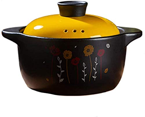 DUDDP Cacerola Stew Potes con párpados Cazuela Pot - Cerámica Pot Wok Sopa Hogar Stef Pot Gas Gas Estufa Stef Sopa Potita de Piedra (Size : 4.0L)