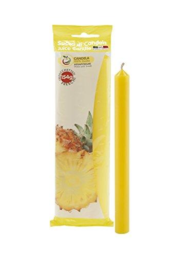 Cereria di Giorgio Succo Candele Profumate alla Frutta, Cera, Giallo, 1.9x1.9x20 cm, 3 unità