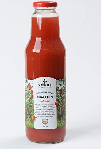 Vrtlari hausgemachter Saft aus Tomaten scharf, 750 ml