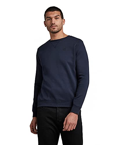 G-STAR RAW Premium Basic suéter, Blau (Sartho Blue...