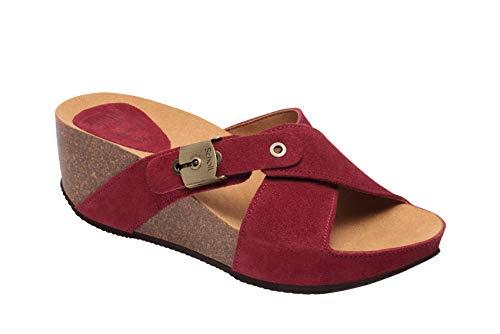 Scholl 708481-50 Damen Pantoletten, Rot, 41 EU