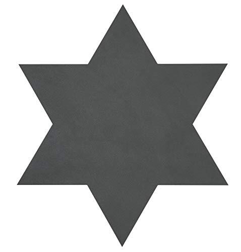 Glazen onderzetter ster (15x15cm) Nupo leer - LindDNA, kleur: antraciet