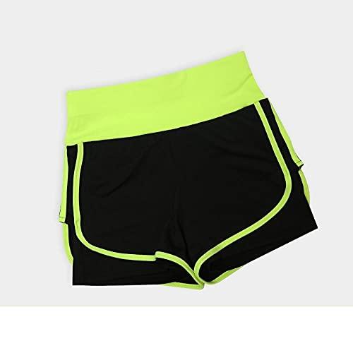 bayrick Leggings Push Up Mujer Mallas,Pantalones Cortos Ajustados de Yoga Falso de Dos Piezas Velocidad Seca Seca Cintura Alta Ropa Casual Pantalones-dieciséis_XXXL