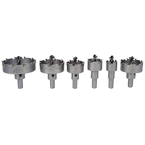 Broca para sierra perforadora, 6 piezas Broca para sierra perforadora Herramientas eléctricas Accesorio para herramientas manuales Carburo cementado de gran tamaño para hierro