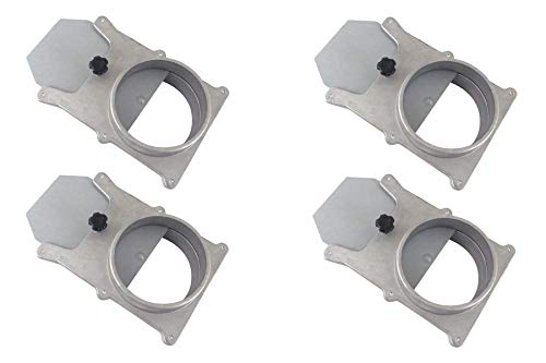 """Taytools 465395 Set of 4 each 4"""" OD Blast Gates Self Cleaning No Clog Aluminum for Dust Collection System"""