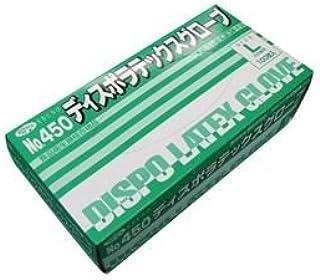 エブノ No.450 ディスポラテックスグローブ 粉つき Lサイズ 1箱100枚