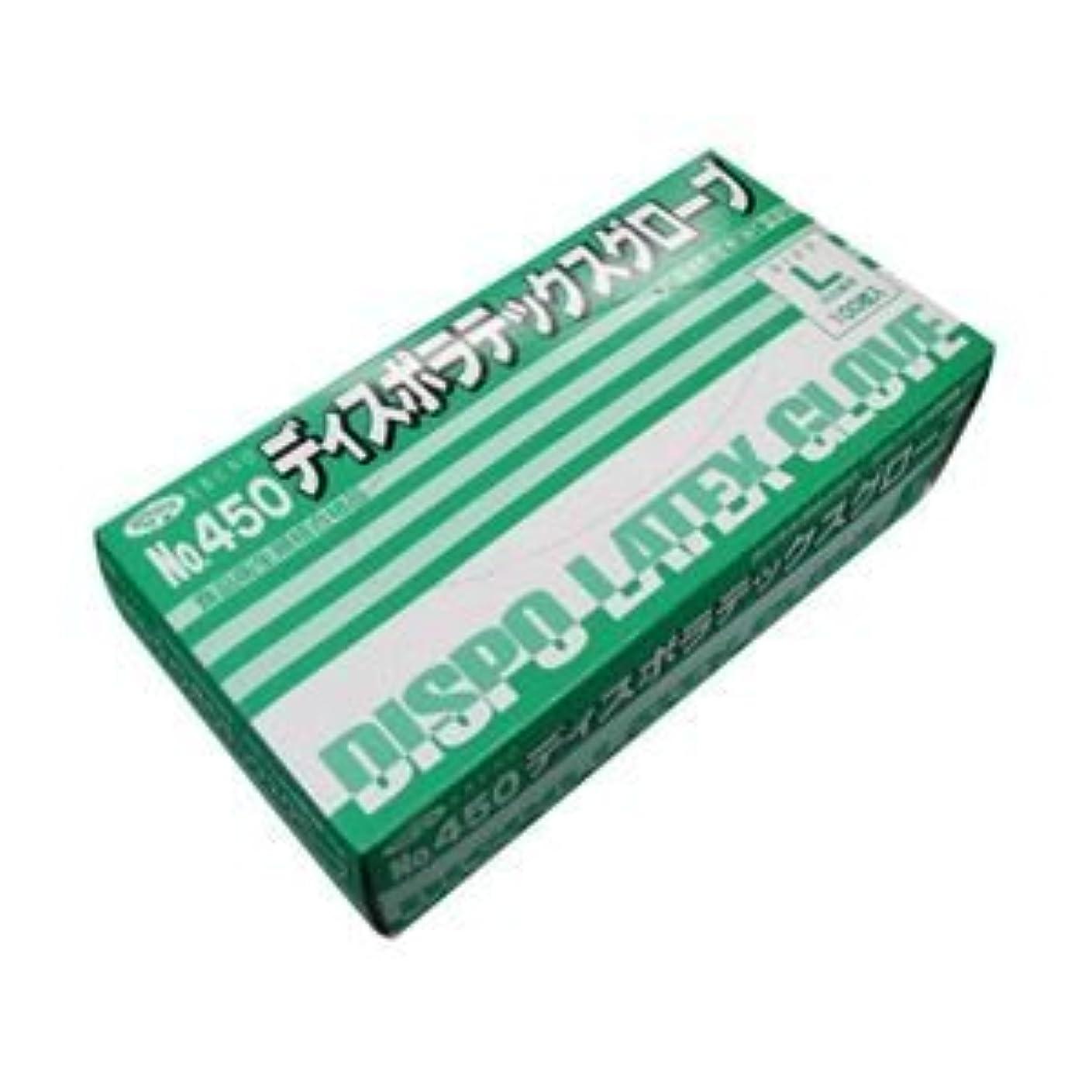 古代魅力的どこでもエブノ No.450 ディスポラテックスグローブ 粉つき Lサイズ 1箱100枚